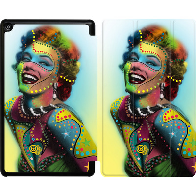 Amazon Fire HD 8 (2017) Tablet Smart Case - Woman With Pattern von Mark Ashkenazi