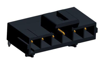 Molex , Ultra-Fit, 172310, 6 Way, 1 Row, Right Angle PCB Header (2)