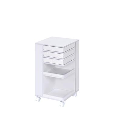 BM204593 Wooden Storage Cart with 3 Drawers and 2 Open Shelves