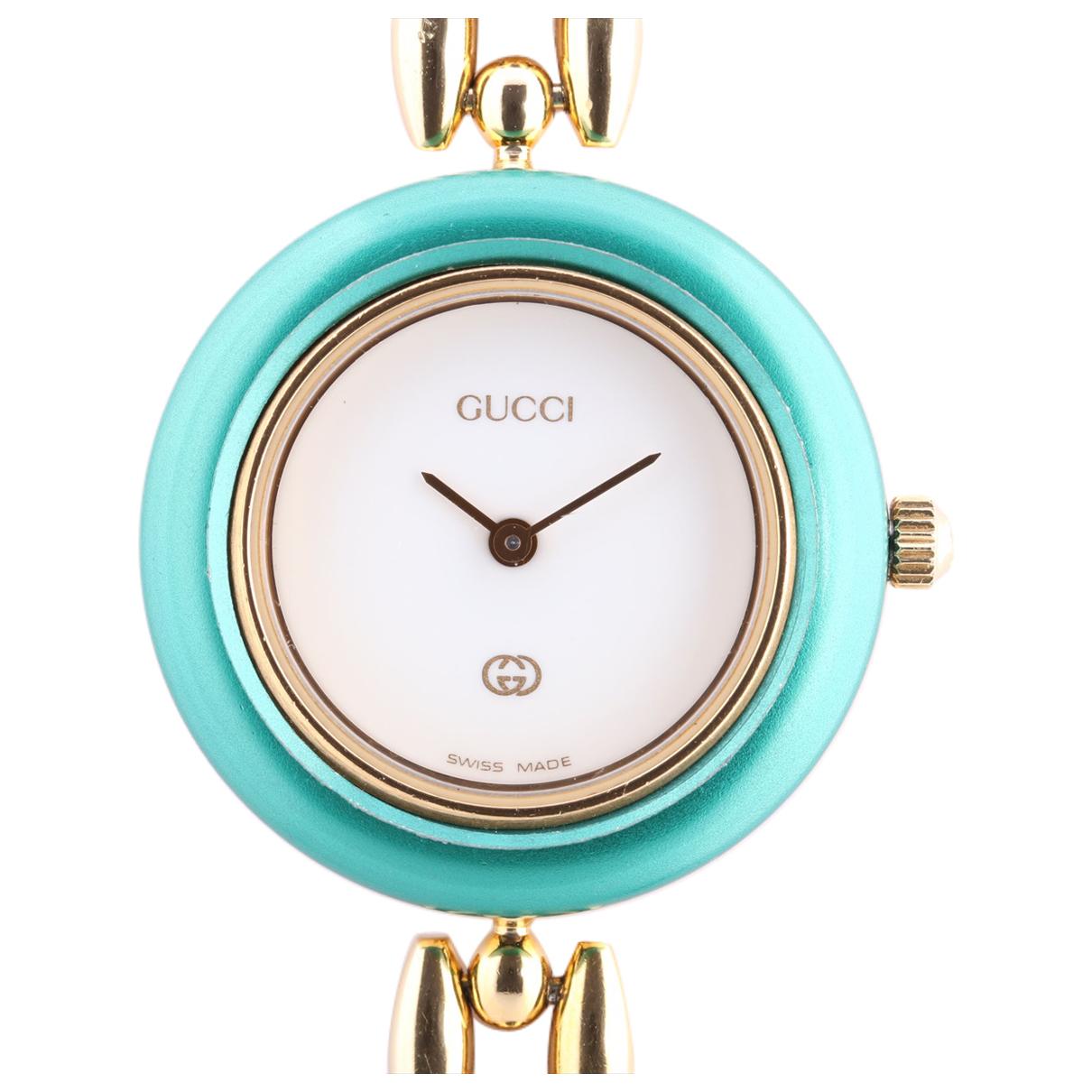 Gucci \N Uhr in  Weiss Vergoldet