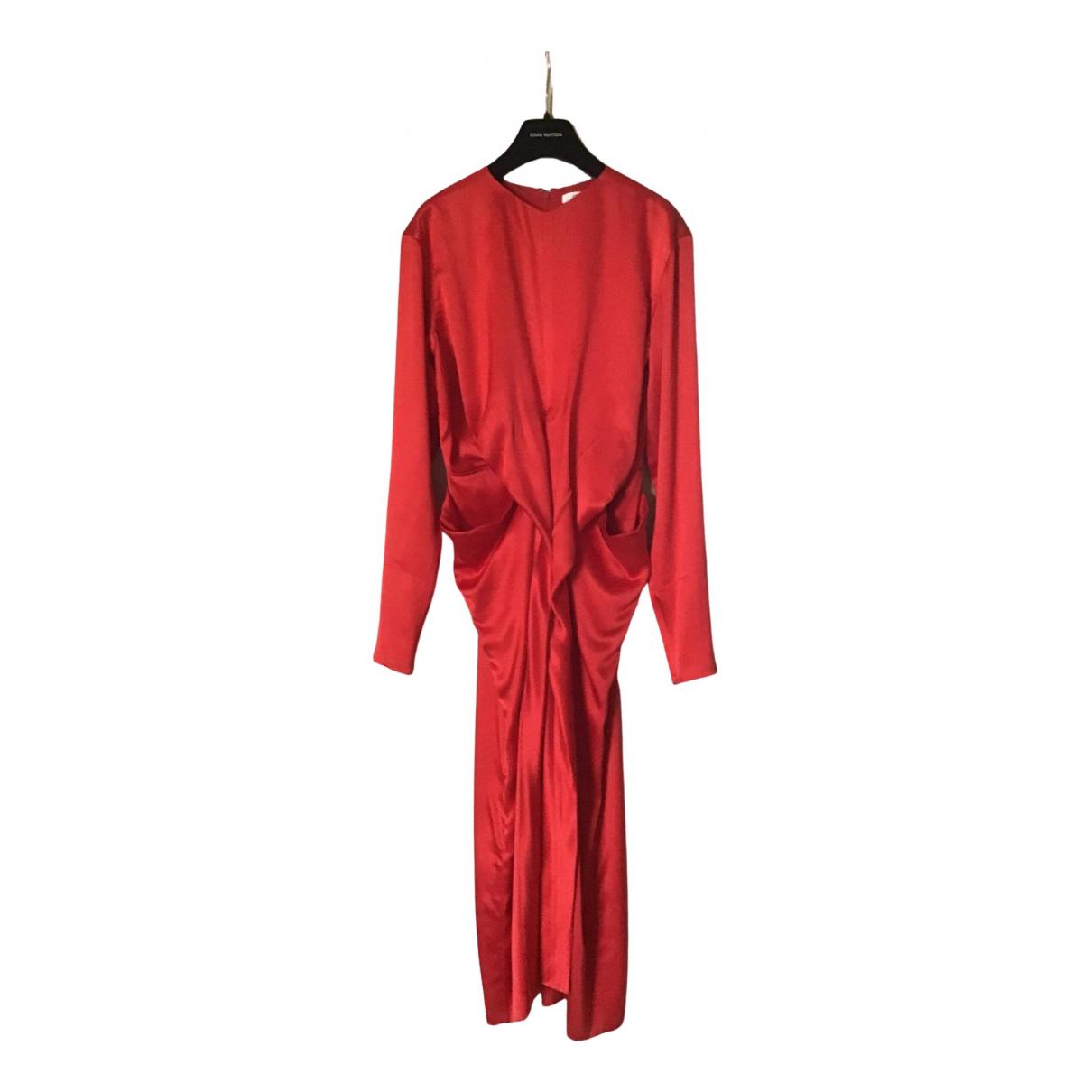 Celine \N Red Silk dress for Women 38 FR