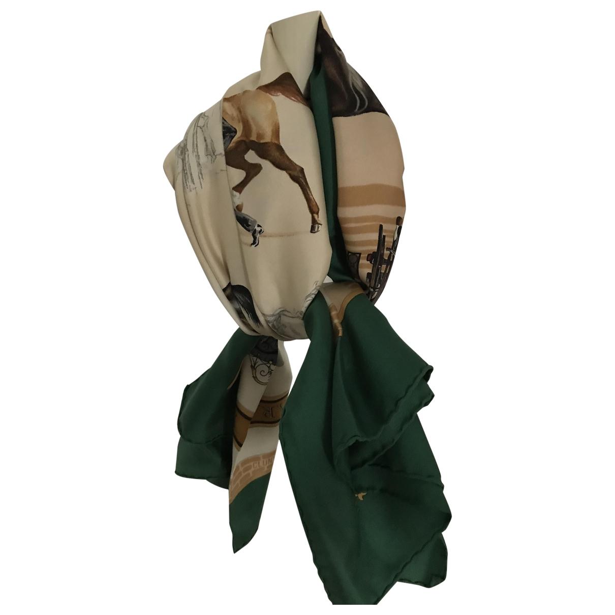Hermes - Carre   pour femme en soie - vert