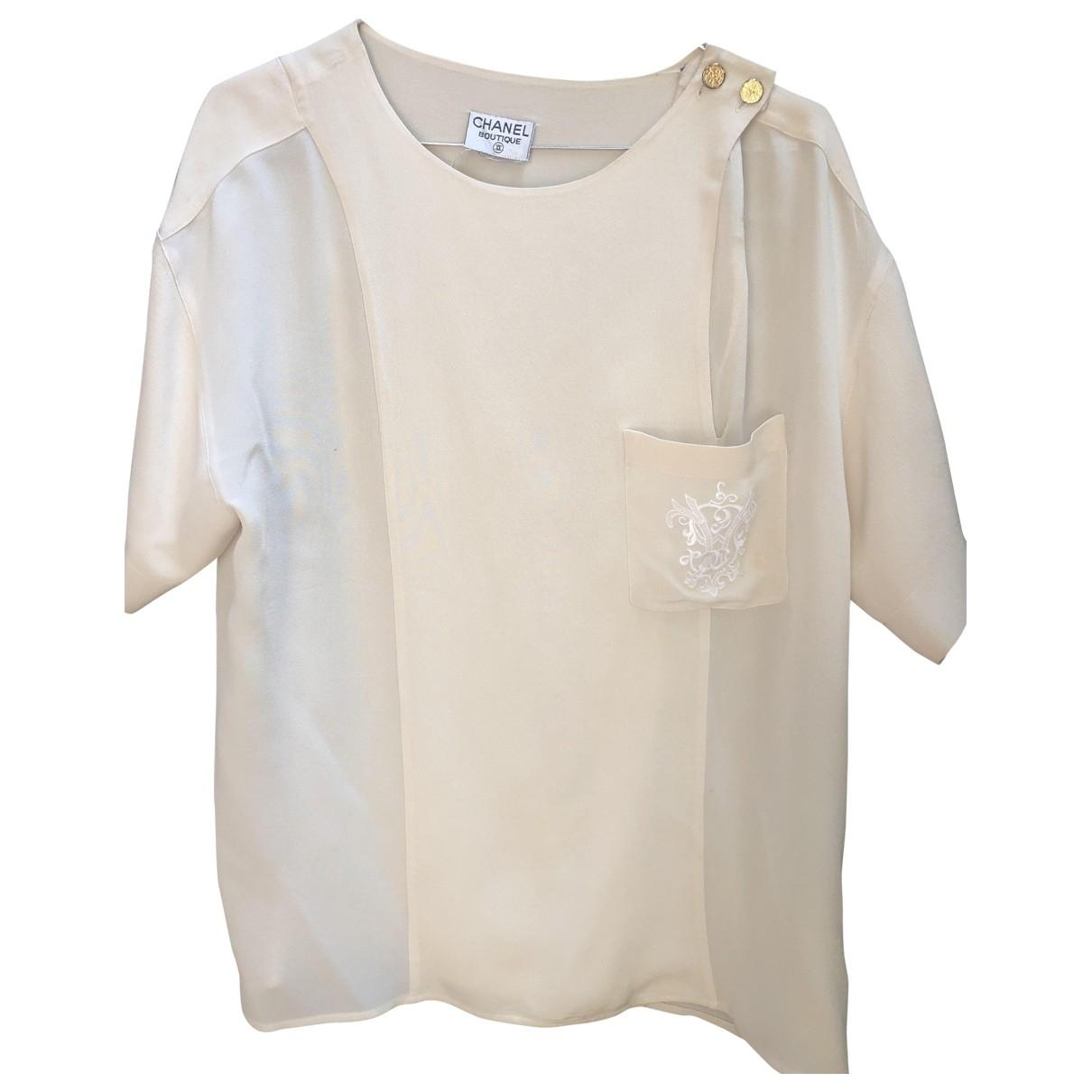 Chanel \N Beige Silk  top for Women 44 FR