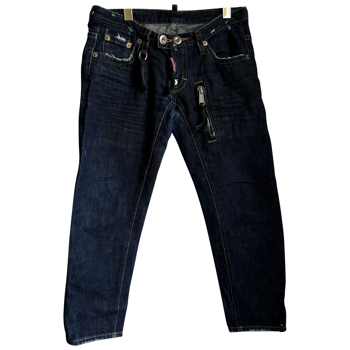 Dsquared2 \N Blue Denim - Jeans Trousers for Women 40 IT
