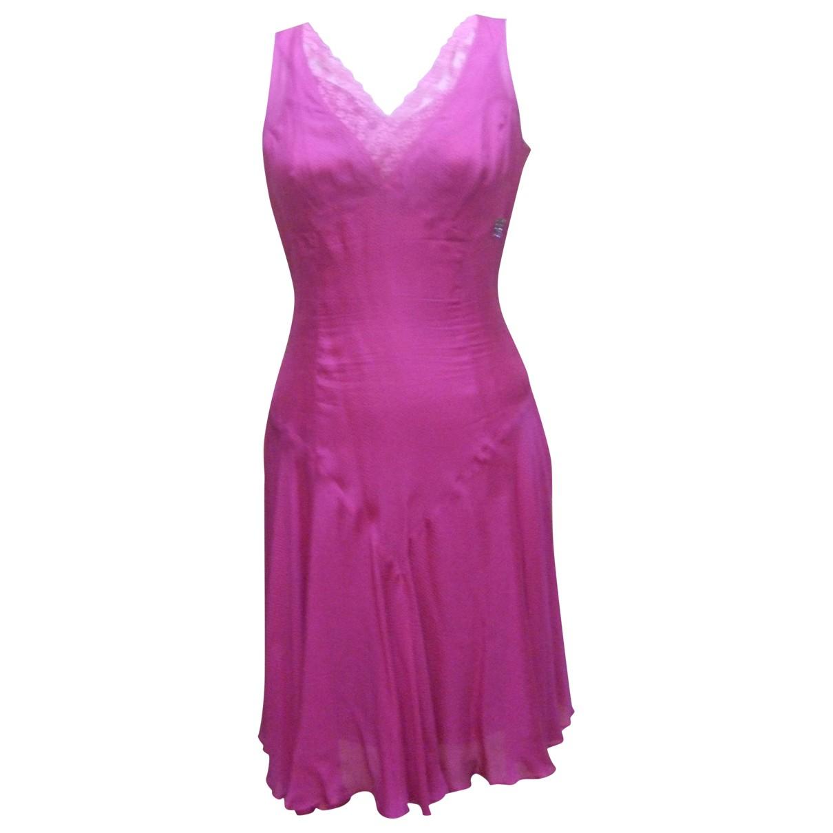 John Galliano \N Kleid in  Rosa Seide