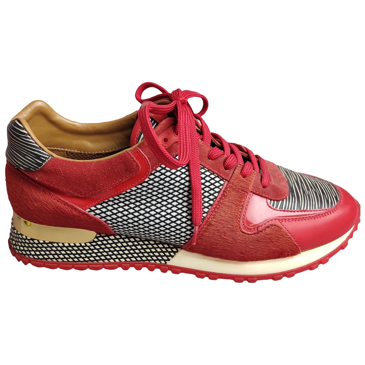 Louis Vuitton - Baskets Run Away pour femme en toile - rouge