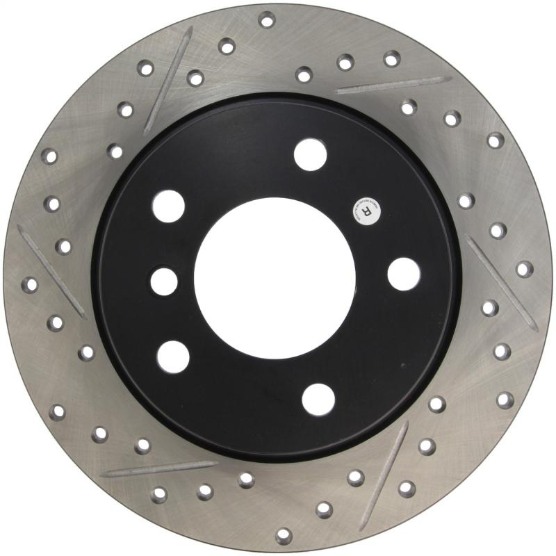 StopTech 127.34030R Sport Drilled/Slotted Brake Rotor; Rear Right BMW Rear Right