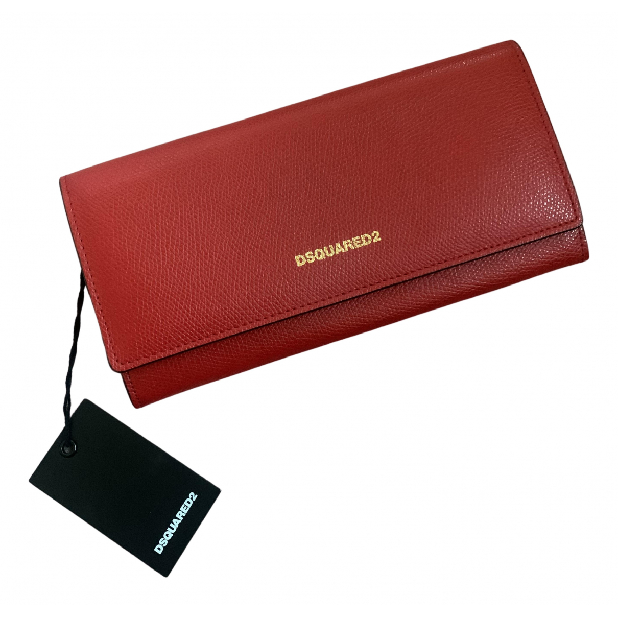 Dsquared2 \N Red Leather wallet for Women \N