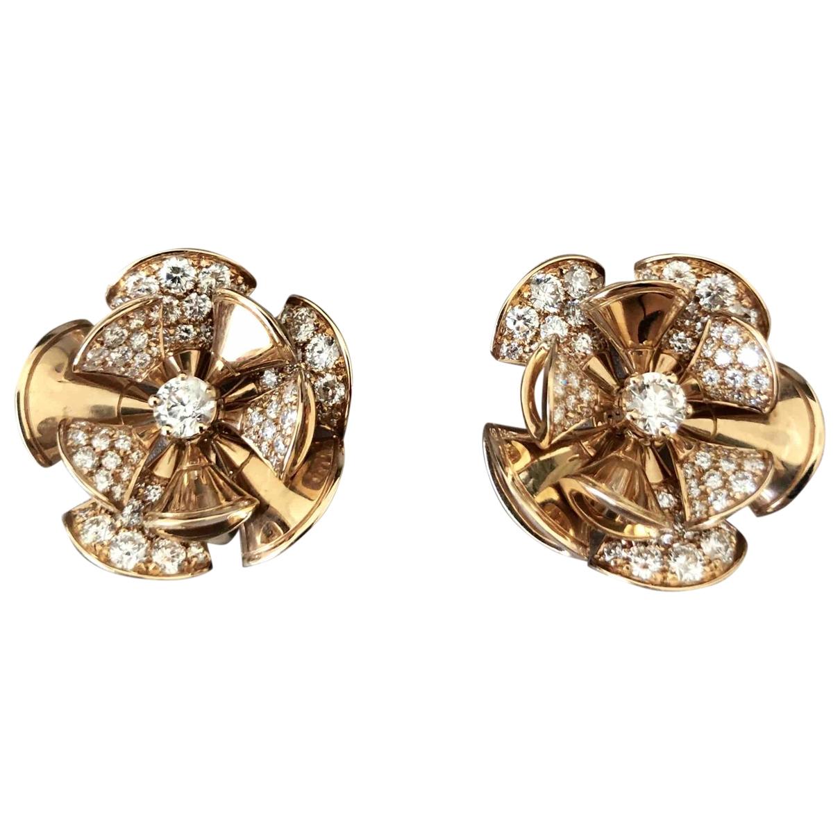 Bvlgari - Boucles doreilles Divas Dream pour femme en or rose