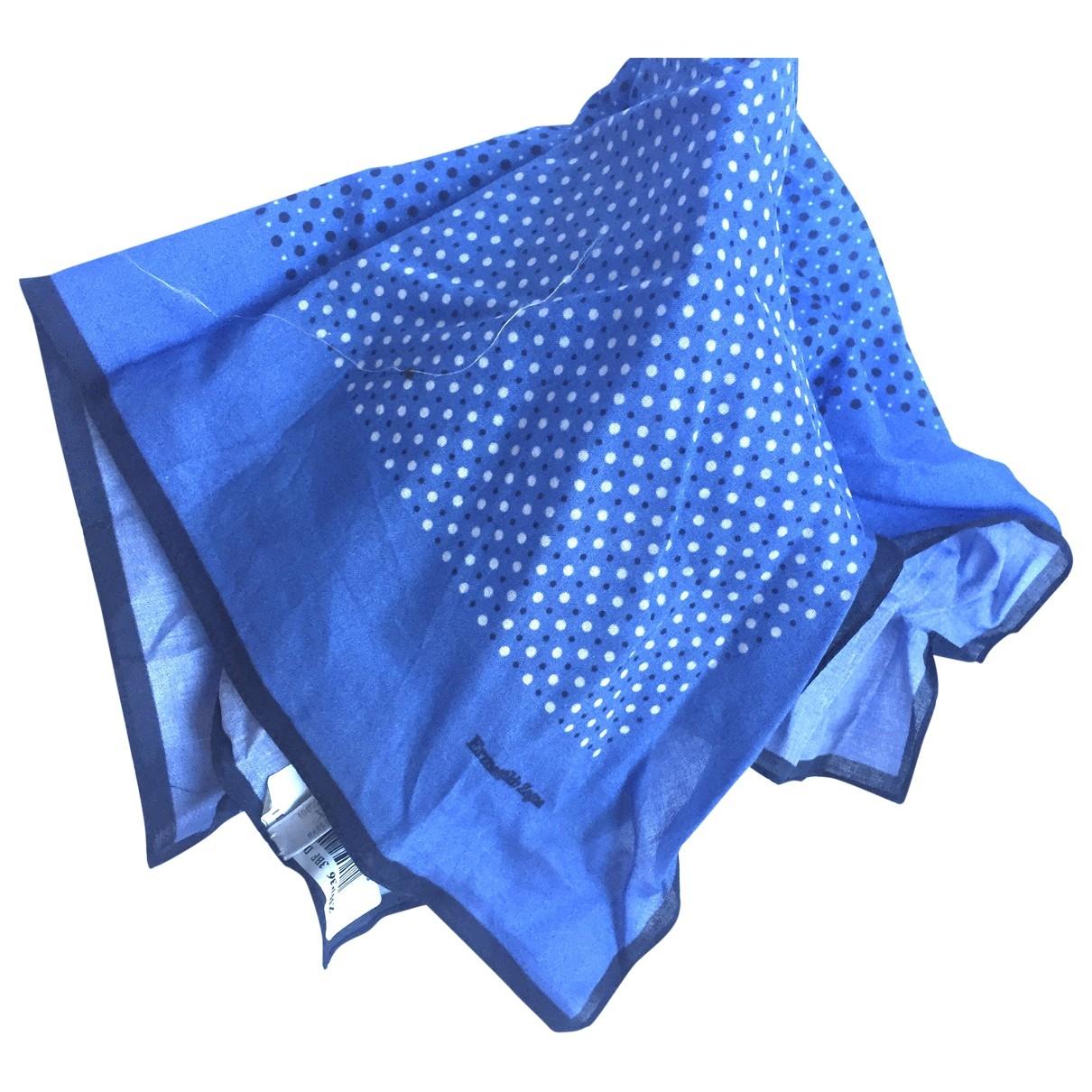 Ermenegildo Zegna - Cheches.Echarpes   pour homme en coton - bleu