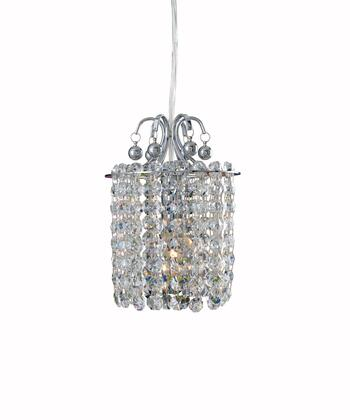 Milieu 11763-010-FR103 1-Light Mini Pendant in Chrome Finish with Firenze Fleet Gold Mix