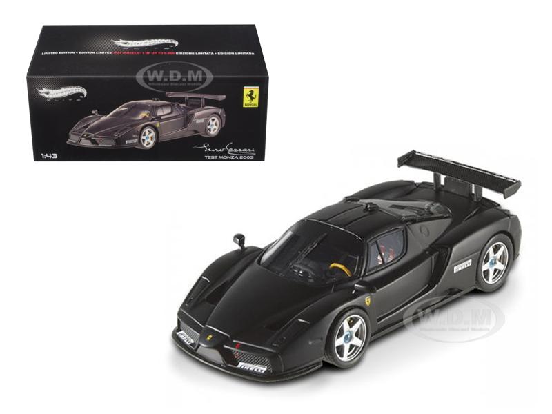 Ferrari Enzo 2003 Monza Test Car Matt Black Elite Edition 1/43 Diecast Car Model by Hotwheels