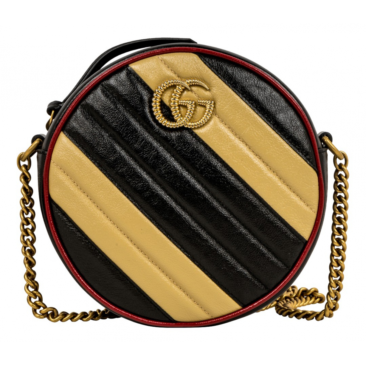 Gucci - Sac a main GG Marmont Circle pour femme en cuir - multicolore