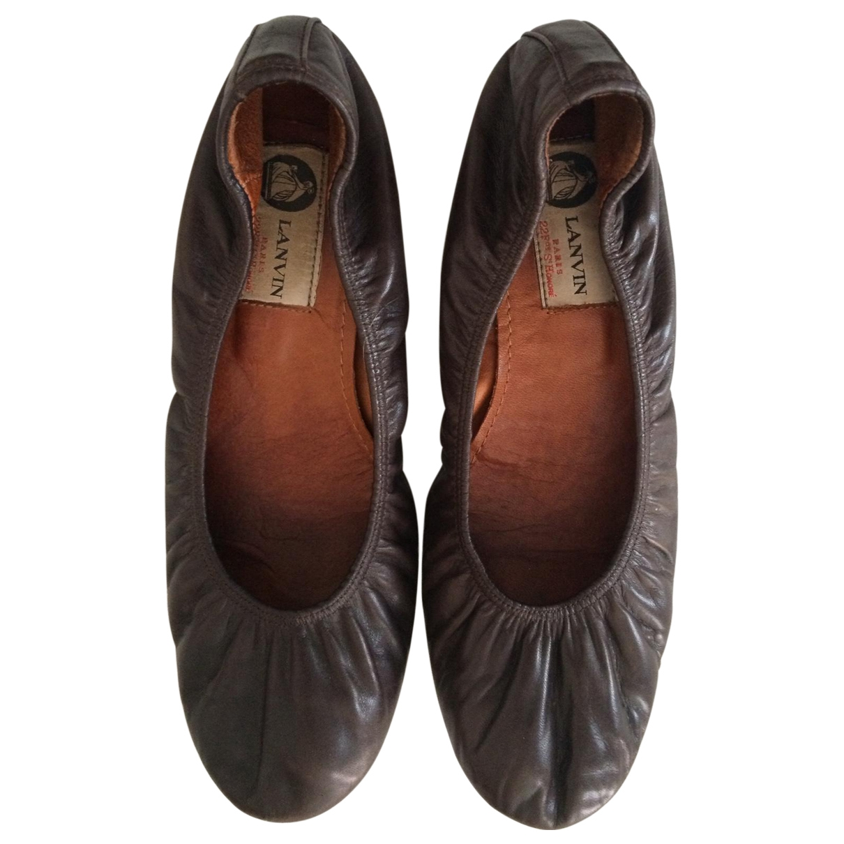 Lanvin \N Brown Leather Ballet flats for Women 37 EU
