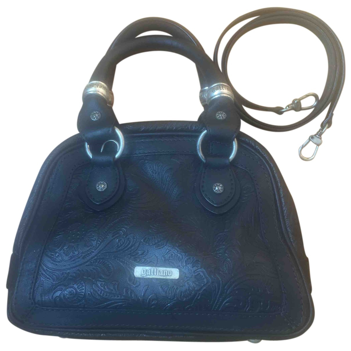 Galliano N Black Leather handbag for Women N