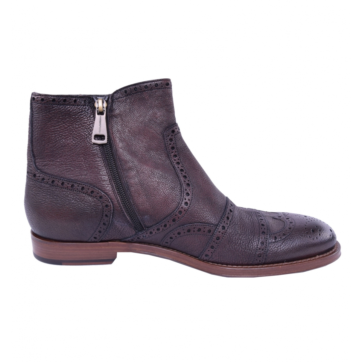 Dolce & Gabbana \N Brown Leather Boots for Men 41 EU