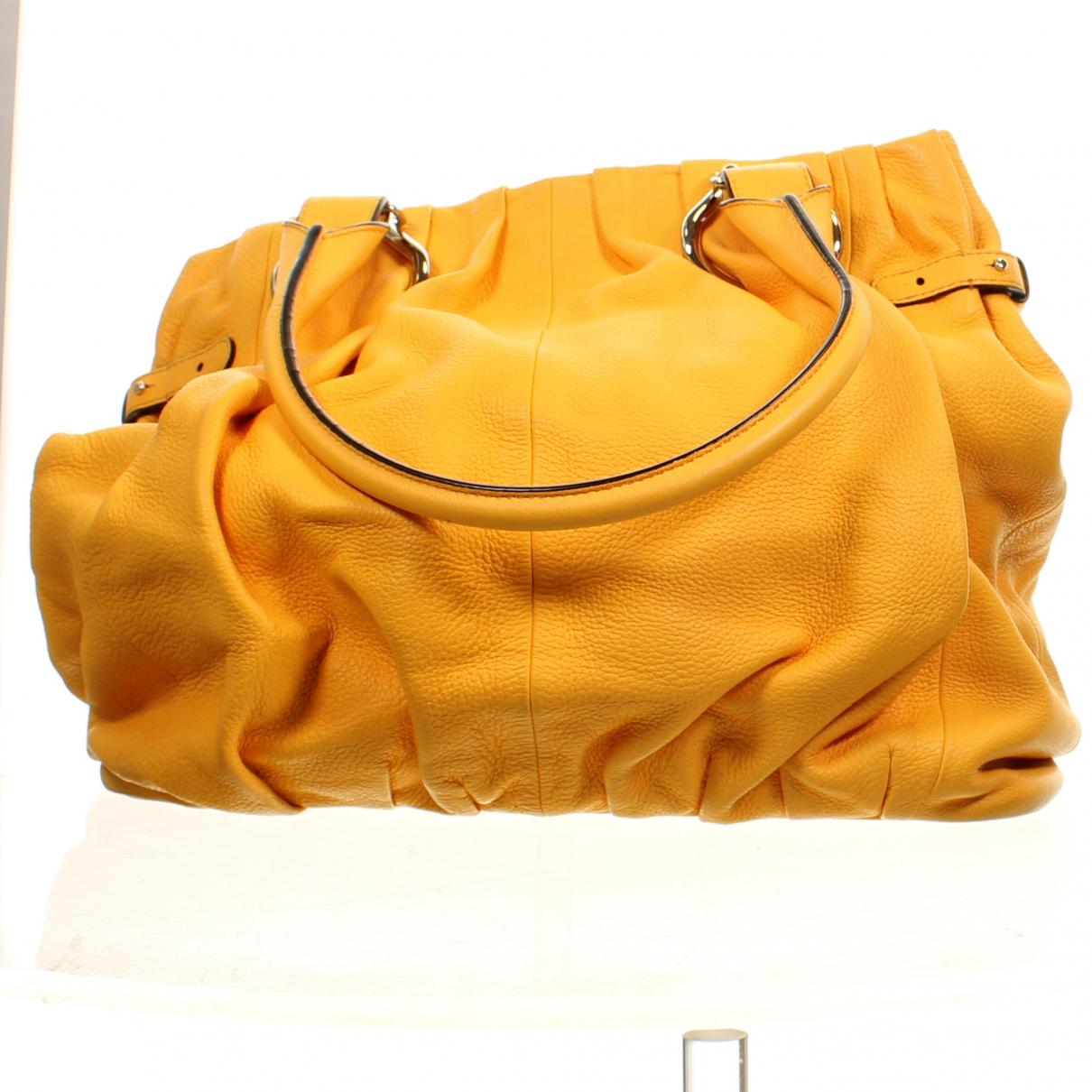 Celine \N Handtasche in  Gelb Leder