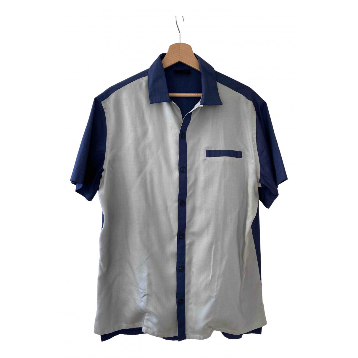 Lanvin - Chemises   pour homme en coton - bleu
