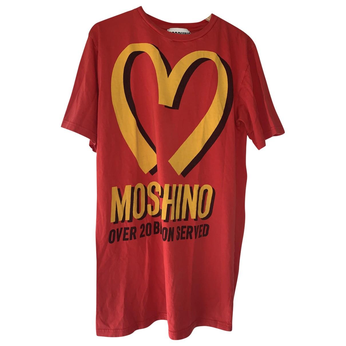 Moschino - Robe   pour femme en coton - rouge
