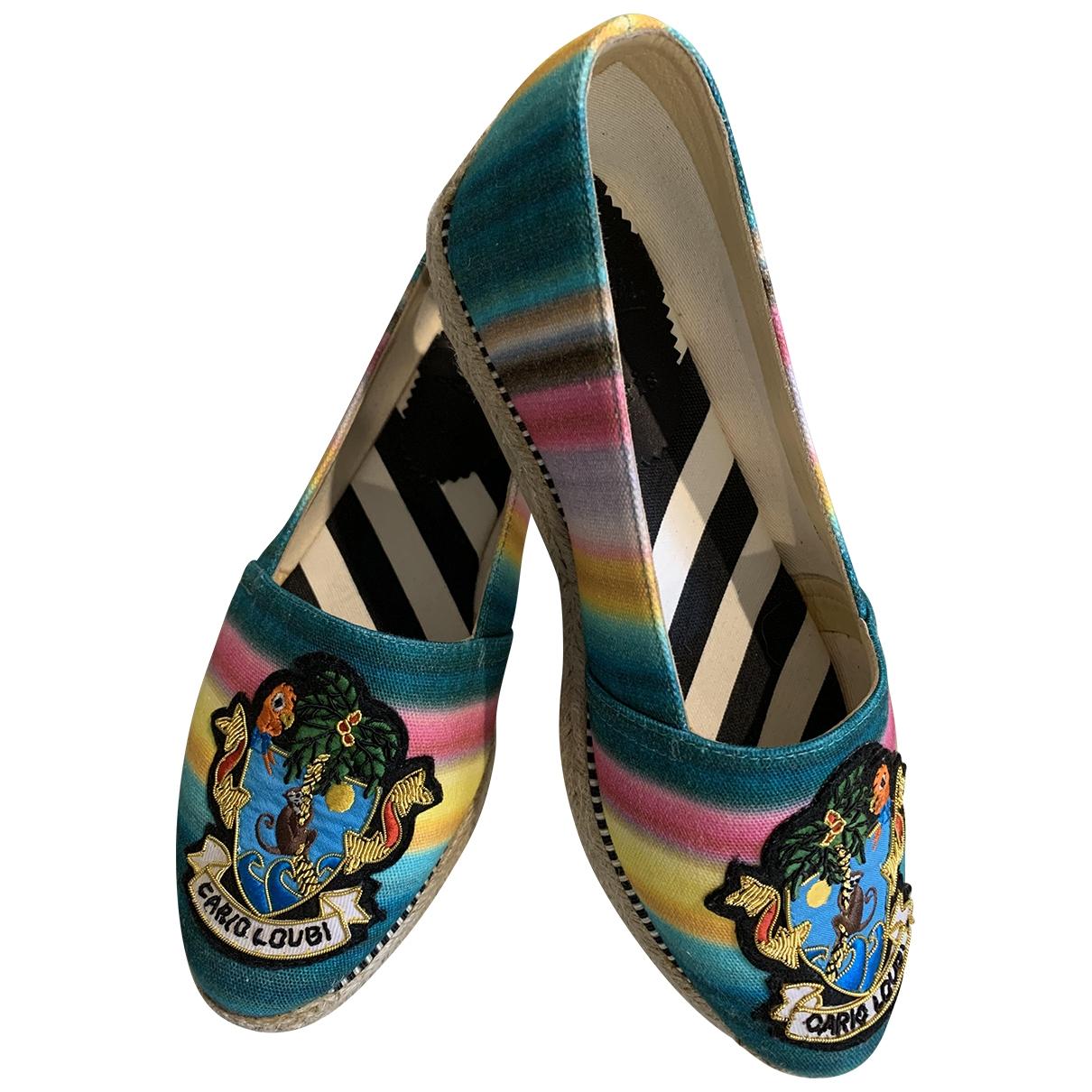 Christian Louboutin - Espadrilles   pour femme en toile - multicolore