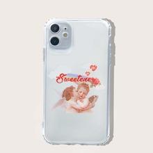 Funda de iphone con estampado de angel