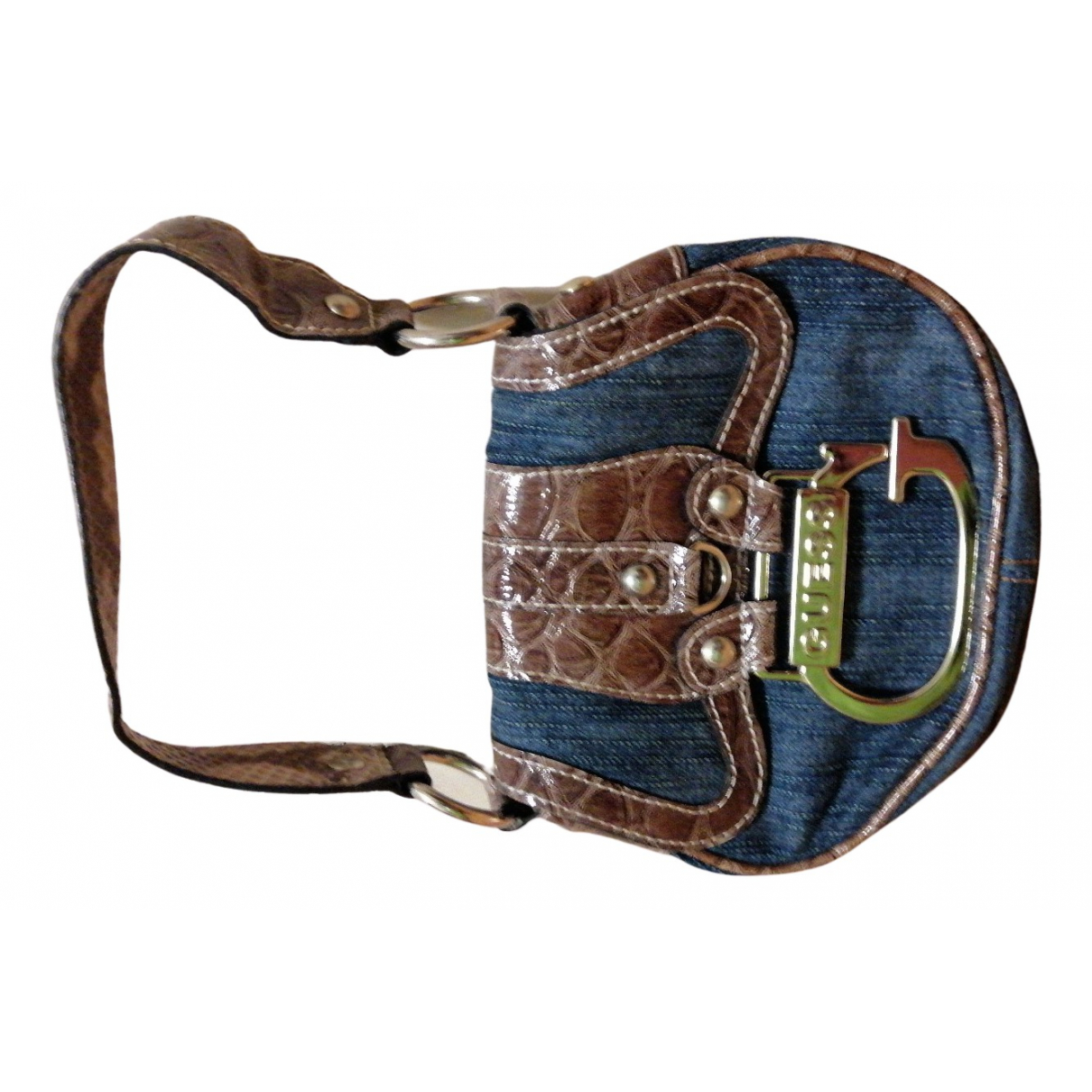 Guess N Blue Cotton handbag for Women N