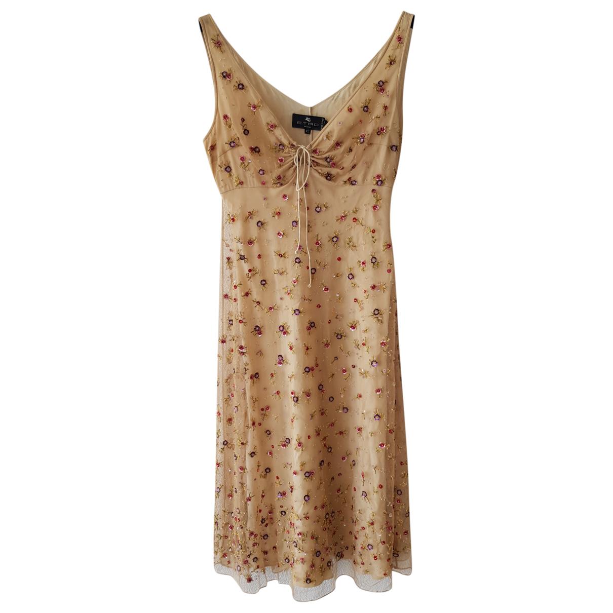 Etro \N Kleid in  Beige Synthetik