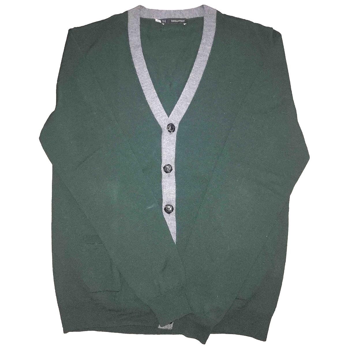 Dsquared2 \N Pullover.Westen.Sweatshirts  in  Gruen Wolle