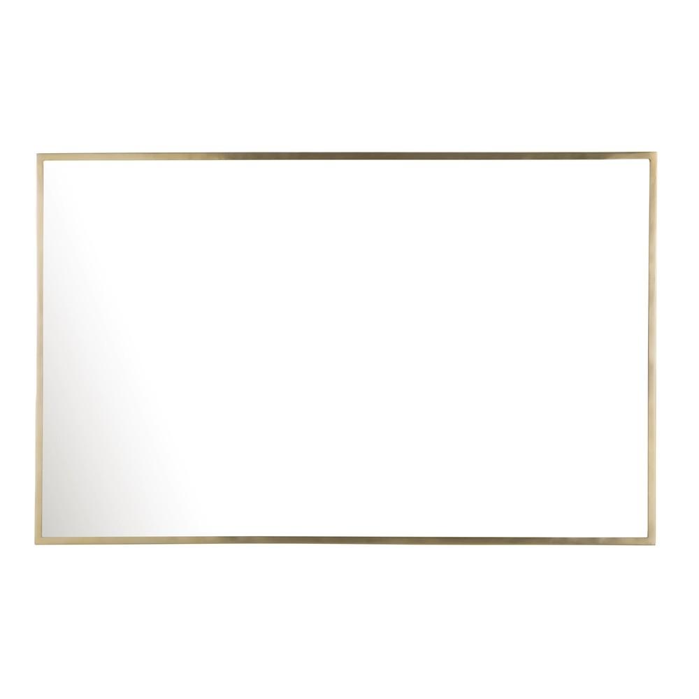 Spiegel mit goldfarbenem Metallrahmen, 75x120