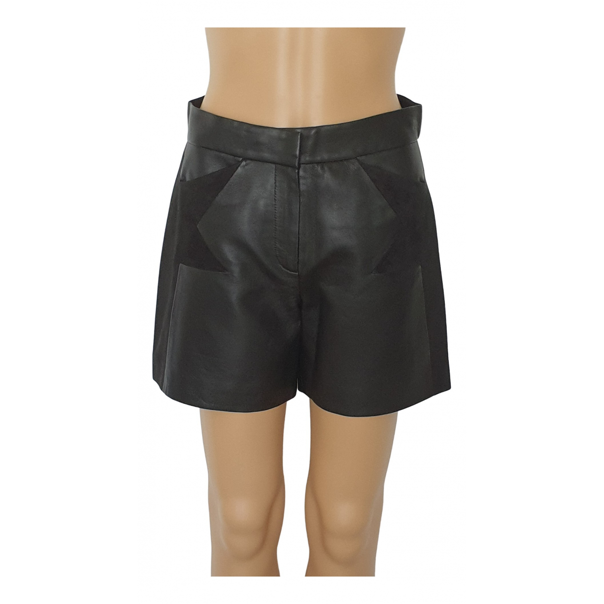Karl \N Shorts in  Schwarz Leder