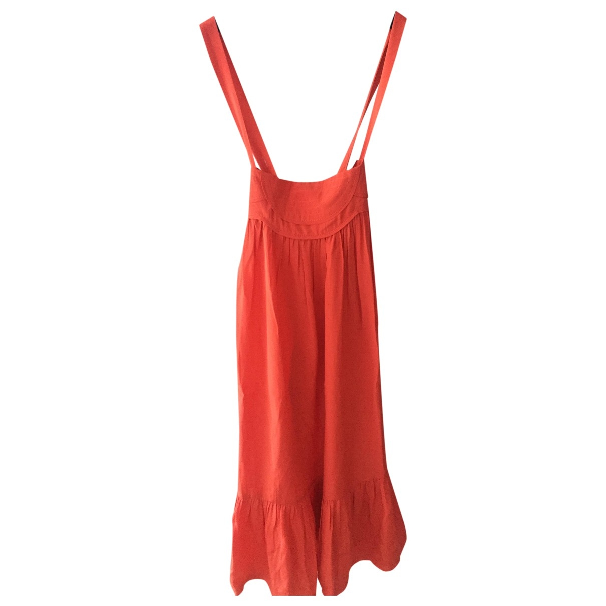 Sandro \N Orange Silk dress for Women S International