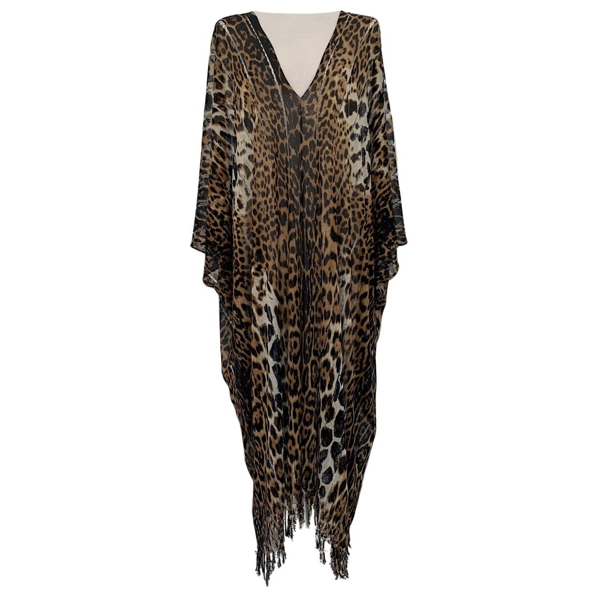 Yves Saint Laurent \N Kleid in  Braun Seide