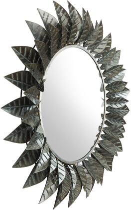 A12216 Leaf Round Mirror