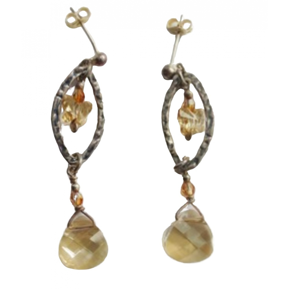 Non Signé / Unsigned \N Camel Crystal Earrings for Women \N