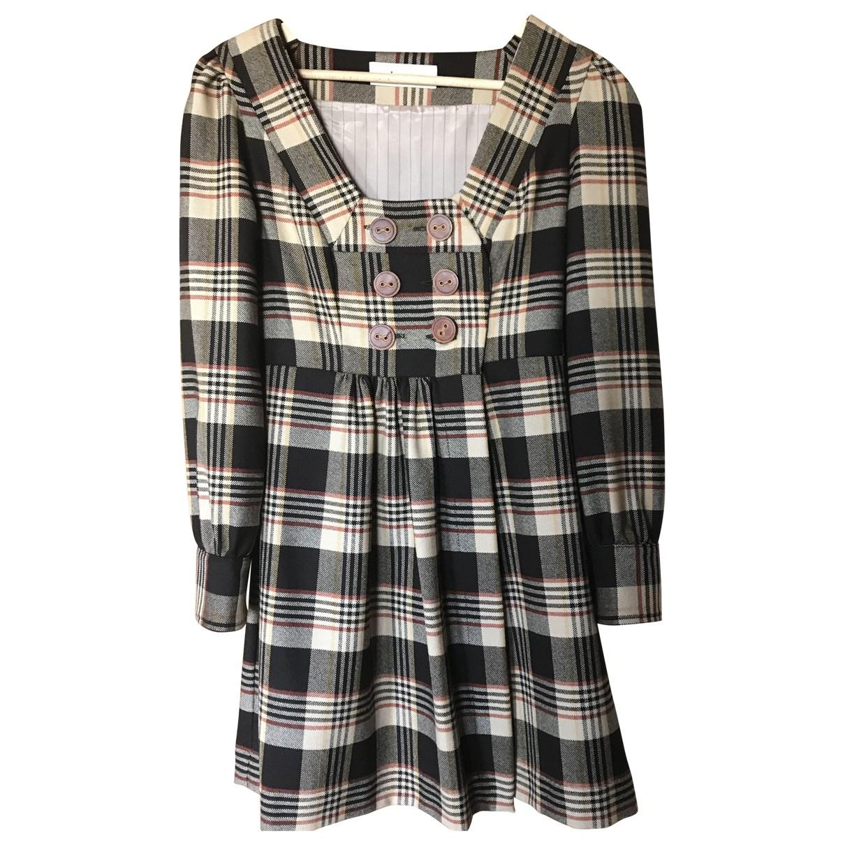 Lover \N Kleid in  Braun Wolle