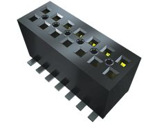 Samtec , FLE 1.27mm Pitch 4 Way 2 Row Vertical PCB Socket, Surface Mount, Solder Termination (10)
