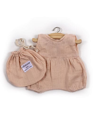 Noa Cotton Romper - Soft Pink