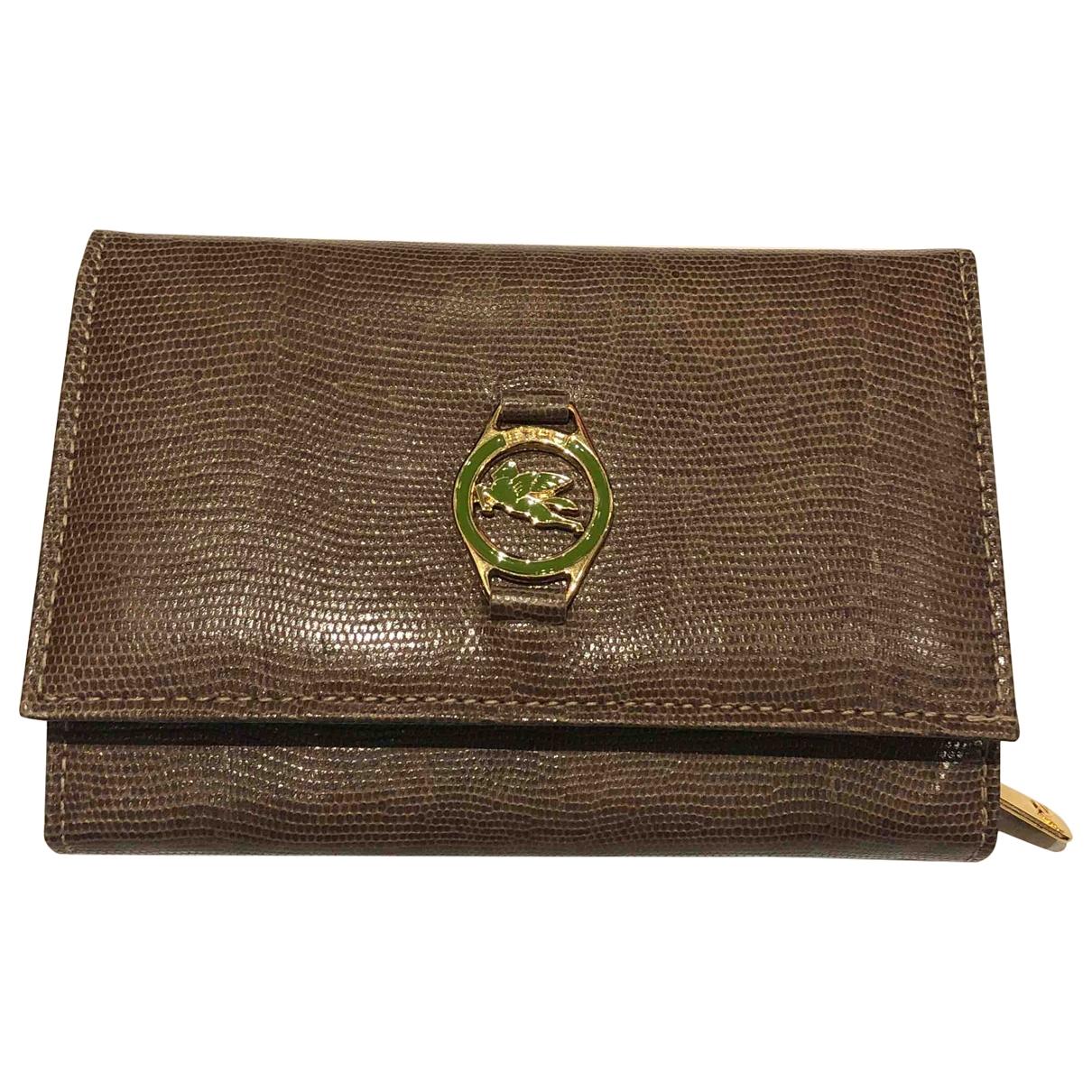Etro \N Portemonnaie in  Braun Leder