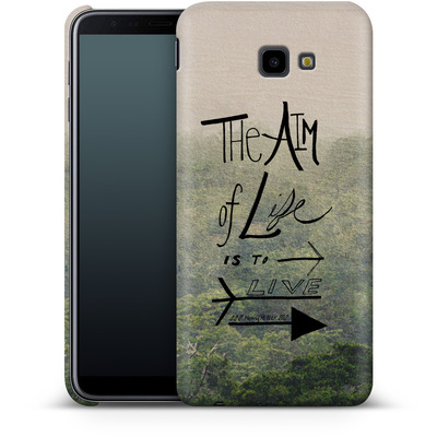 Samsung Galaxy J4 Plus Smartphone Huelle - Aim of Life von Leah Flores