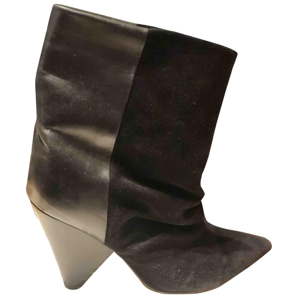 Isabel Marant - Boots Luliana pour femme en suede - noir