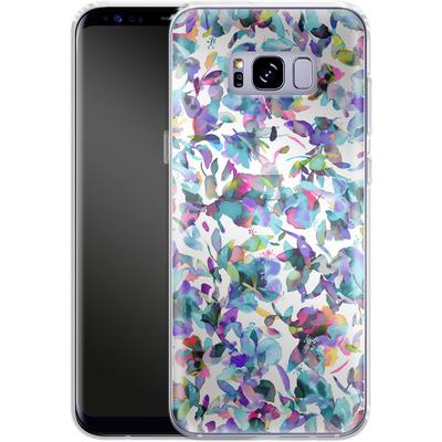 Samsung Galaxy S8 Plus Silikon Handyhuelle - Aquatic Flowers Blue von Ninola Design