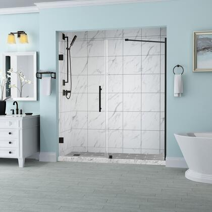 SDR965EZ-ORB-6733-10 Belmore 66.25 To 67.25 X 72 Frameless Hinged Shower Door In Oil Rubbed