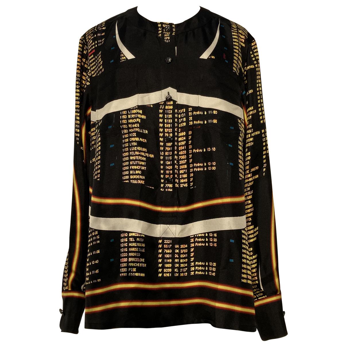 Chanel \N Black Silk  top for Women 40 FR
