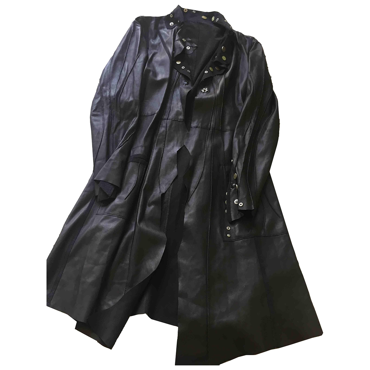Sylvie Schimmel \N Black Leather coat for Women 38 FR