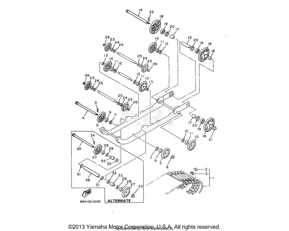 Yamaha OEM 8H8-47320-00-00 SUSPENSION WHEEL COMP.