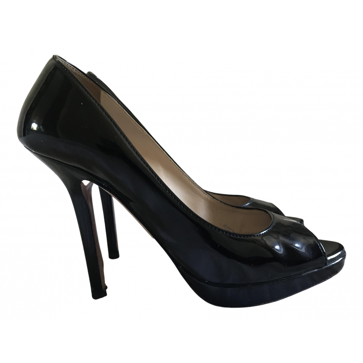 Prada \N Black Patent leather Heels for Women 37 IT