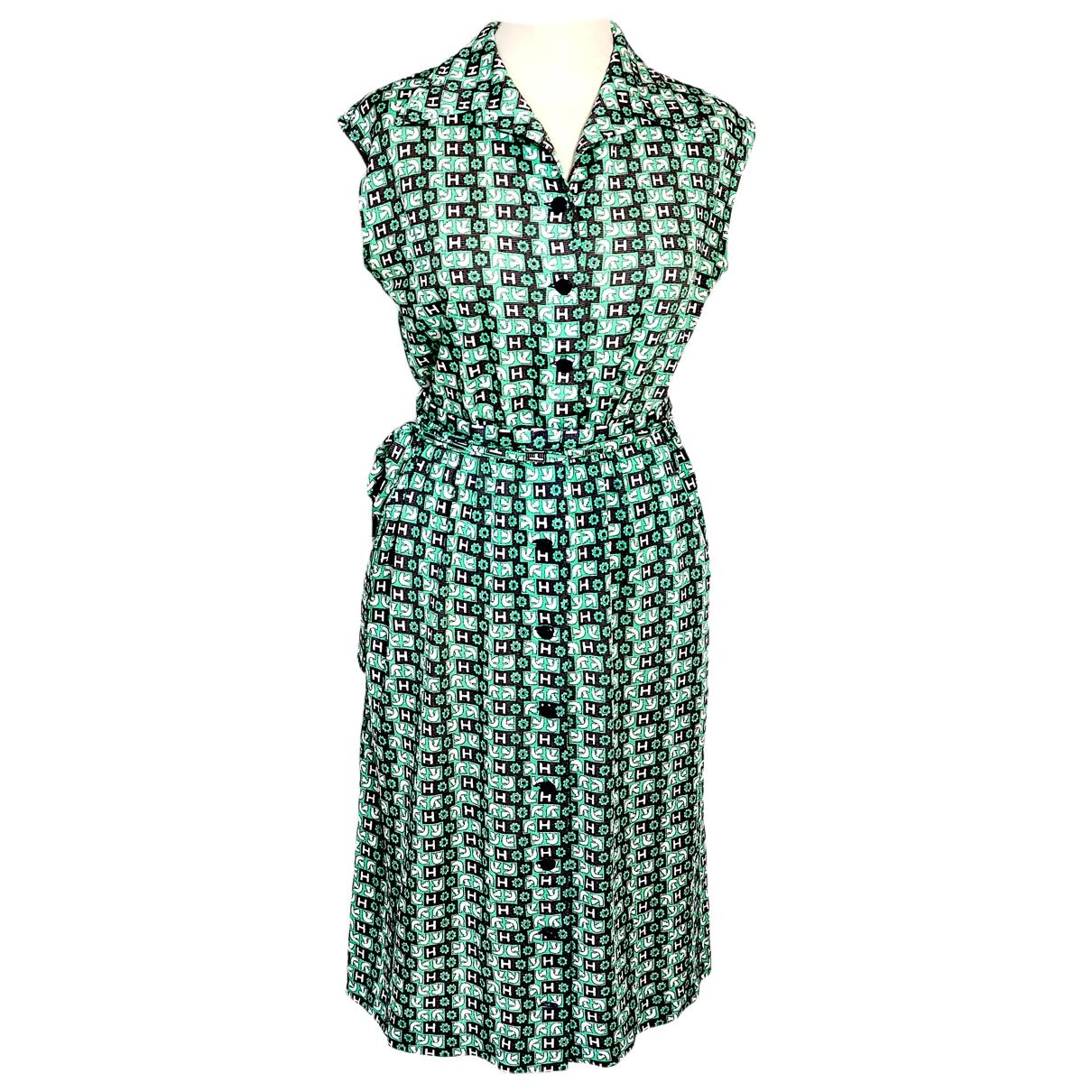 Hermes - Robe   pour femme - vert