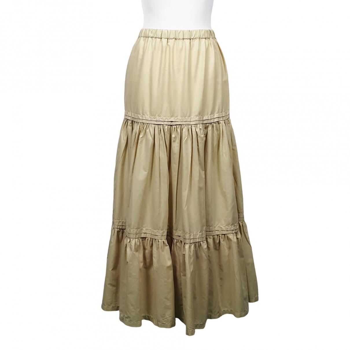 Romeo Gigli \N Beige Cotton skirt for Women One Size FR