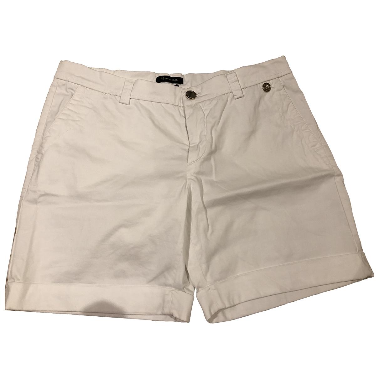 Massimo Dutti \N Shorts in  Weiss Baumwolle - Elasthan