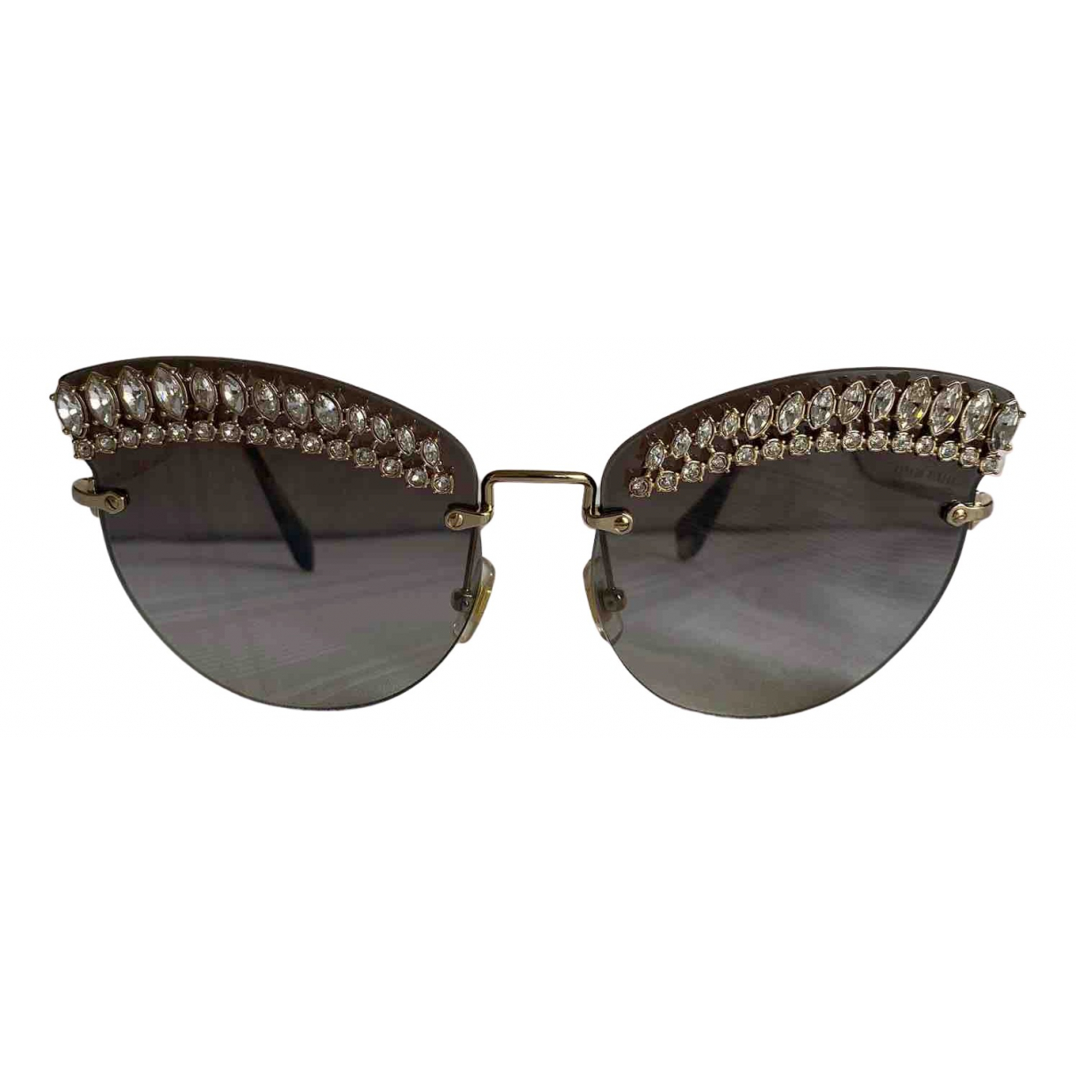 Miu Miu \N Sonnenbrillen in  Silber Metall